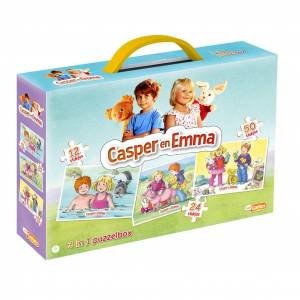 Diversen Just Games Casper en Emma 3in1 Puzzelbox 12/24/50 Stukjes
