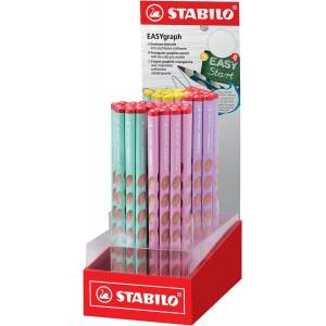 Stabilo potlood Easygraph display met 60 stuks in geassorteerde pastelkleuren