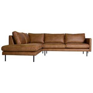 HomingXL Loungebank Violet chaise longue links   leer Colorado cognac 03   2,26 x 2,62 mtr breed
