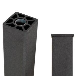 Plus Danmark Paal composiet met stalen kern 9 x 9 cm zwart (153 cm) ongepunt (incl. paalkap)
