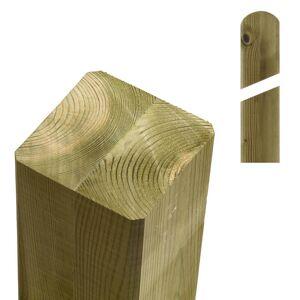Plus Danmark Paal vuren 9 x 9 cm groen geimpregneerd (188 cm) met ongepunte en afgeronde kant geschaafd