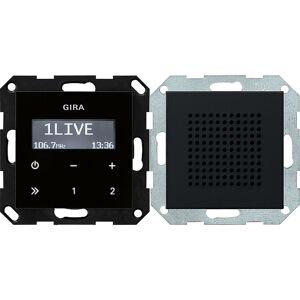 Gira Systeem 55 - Radio 2280005 Zwart mat