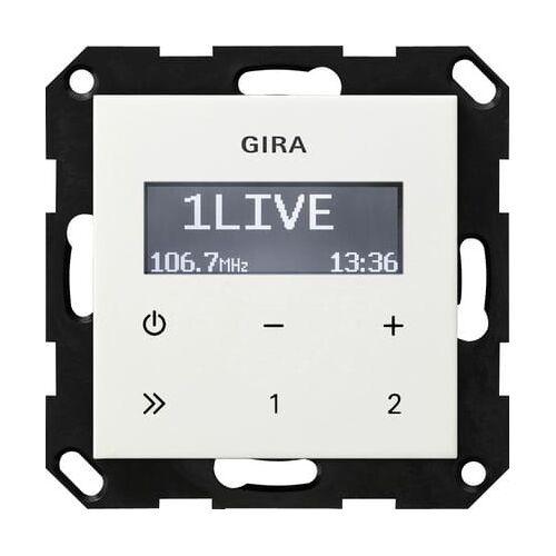 Gira Systeem 55 - Radio 228403 Alpinwit glanzend