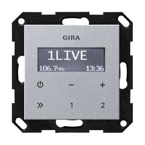 Gira Systeem 55 - Radio 228426 Aluminium