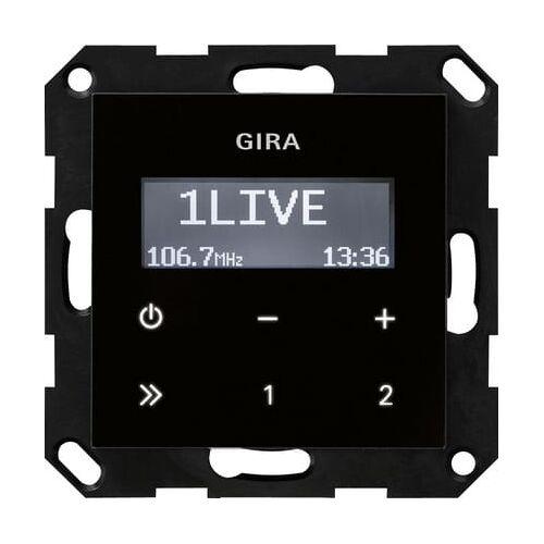 Gira Systeem 55 - Radio 228405 Zwart