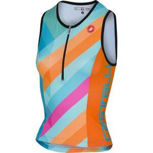 Castelli Core 2 triatlontop voor dames - S multicolor sky blue