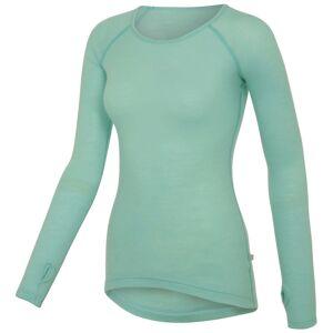 Isadore Merino ondershirt voor dames (lange mouwen) - 2XS blauw