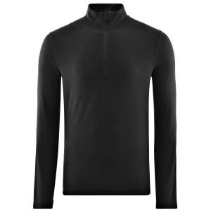 Fohn Föhn Merino ondershirt (250, lange mouwen, met rits) - Small zwart