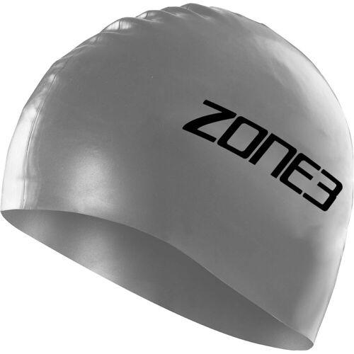 Zone3 badmuts van silicone - One Size zilver   Badmutsen