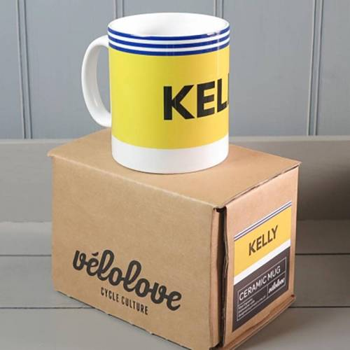 Velolove Kelly Kas mok - one-size-fits-all Yellow/Blue   Cadeaus