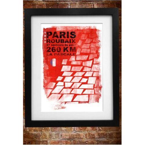 Cycling Souvenirs Paris Roubaix poster (A3) - A3 rood   Cadeaus
