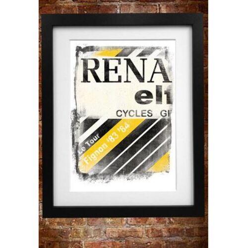 Cycling Souvenirs Renault fietstrui poster (A3) - A3 wit   Cadeaus