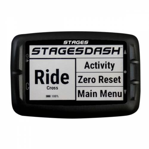 Stages Cycling Dash fietscomputer - White zwart   Fietscomputers