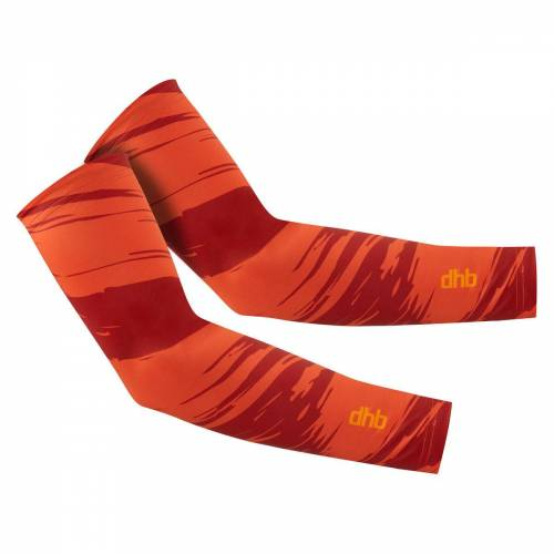 dhb Blok Swipe armwarmers - Large Jester Red   Armwarmers