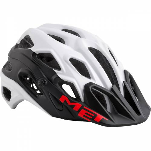 MET Lupo MTB helm - M wit/rood   Helmen
