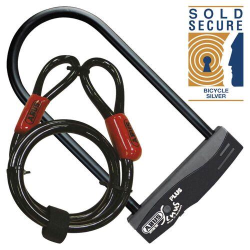 Abus Sinus Plus set beugelslot met kabel - zwart   Beugelsloten