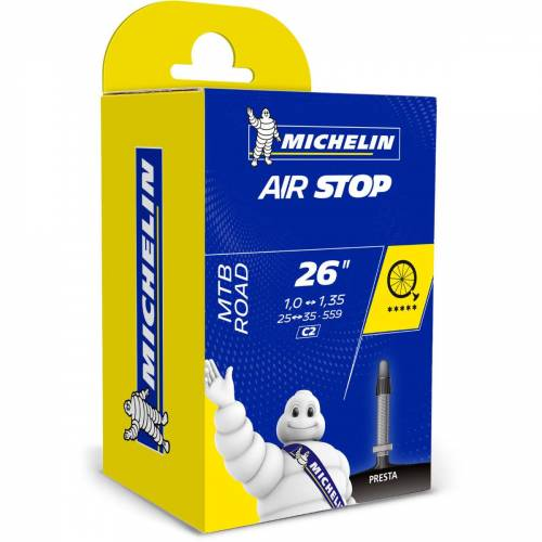 "Michelin C2 AirStop MTB binnenband van butylrubber - 26"" 1.0-1.35"""