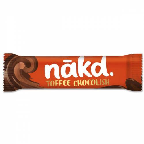 nakd. Drizzled Chocolish energierepen (4 x 35 g) - 4 x 35g Toffee