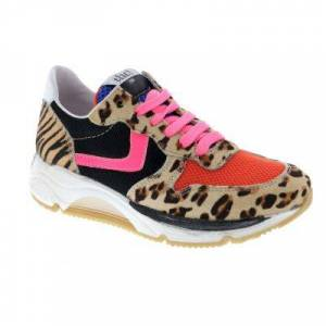 Clic Sneakers  - Vrouw - Bruin - Grootte: 33