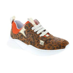 Clic Sneakers  - Vrouw - Bruin - Grootte: 28