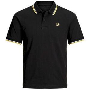 jack & jones Poloshirt  - Man - Zwart - Grootte: 128