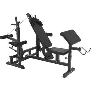 Gorilla Sports Halterbank Met 100 kg Halterset - Gripper Kunststof