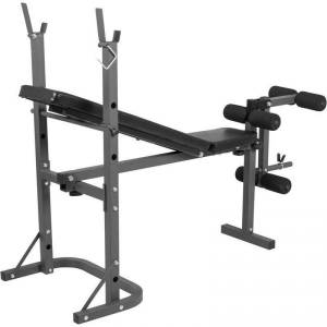 Gorilla Sports Halterbank met Leg Curl belastbaarheid 160 kg
