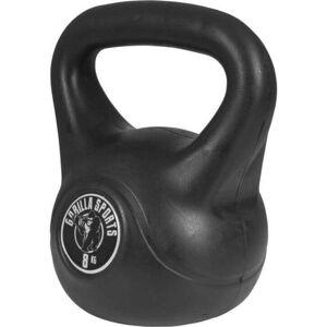 Gorilla Sports Kettlebell 8 kg zwart kunststof (extra stabiel)