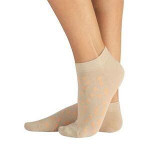 Cette Katoenen sokjes met beige-oranje driehoejesmotief