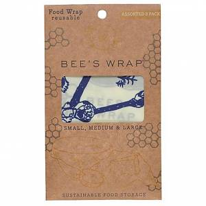 Bees Wrap Bee's Wrap 3-pack Assorted Bears & Bees small/medium/large
