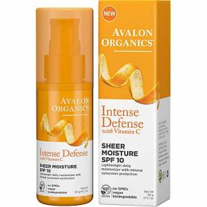 Avalon Organics Intense Defence Sheer Moisture SPF10