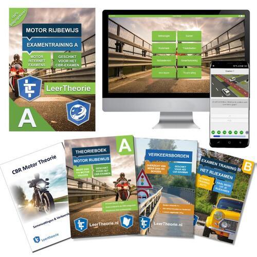 Theorieboek Motor 2020 Rijbewijs A /20 uur Online Motor theorie-examens - Motor Theorieboek - Motor Theorie Samenvatting - Verkeerborden overzicht -