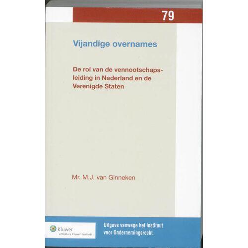 Vijandige overnames - M.J. van Ginneken (ISBN: 9789013079203)