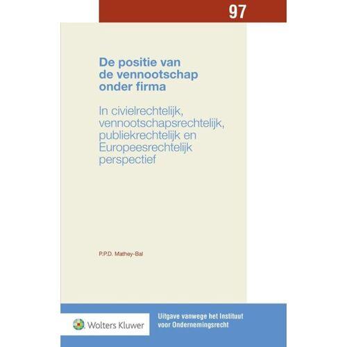 De positie van de vennootschap onder firma - Priscilla Patricia Desirée Bal (ISBN: 9789013134407)