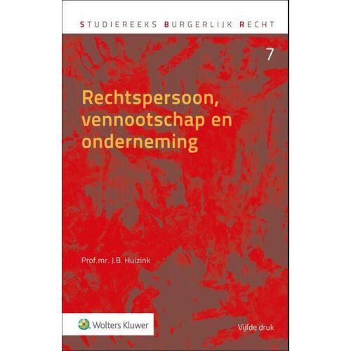 Rechtspersoon, vennootschap en onderneming - J.B. Huizink (ISBN: 9789013152890)