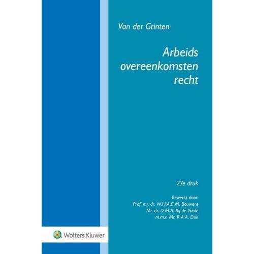 Arbeidsovereenkomstenrecht - Van der Grinten (ISBN: 9789013159714)