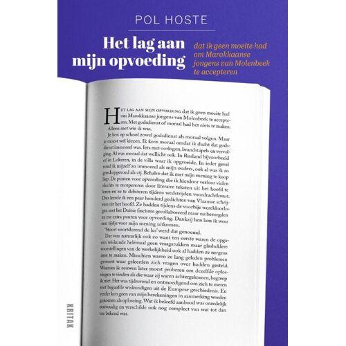 Het lag aan mijn opvoeding - Pol Hoste (ISBN: 9789401468473)