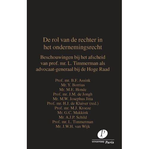 De rol van de rechter in het ondernemingsrecht - B.F. Assink (ISBN: 9789462512276)