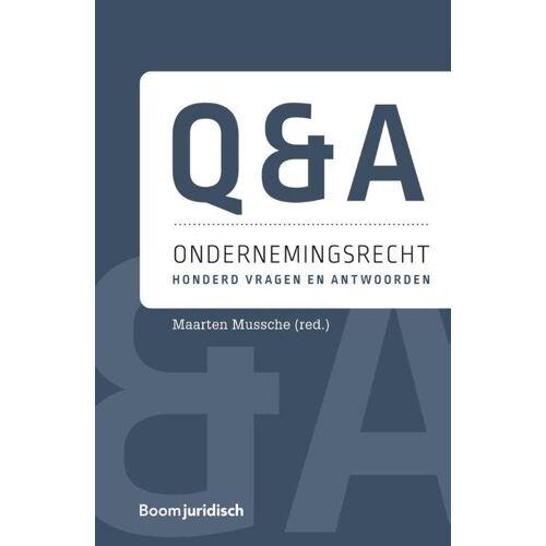 Q&A Ondernemingsrecht - Maarten Mussche (ISBN: 9789462908642)