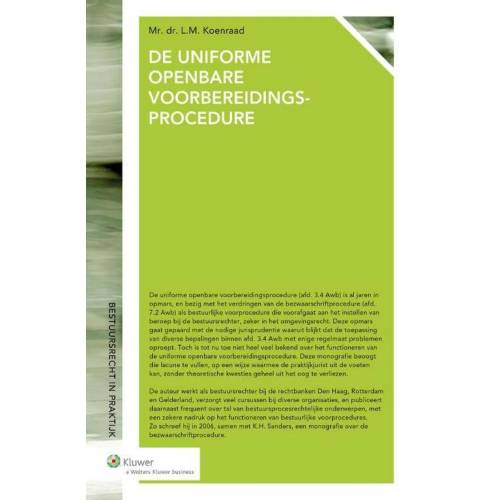 De uniforme openbare voorbereidingsprocedure - L.M. Koenraad (ISBN: 9789013134117)