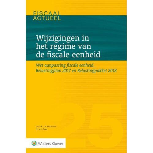 Wijzigingen in het regime van de fiscale eenheid - J.N. Bouwman, M.J. de Boer (ISBN: 9789013141993)