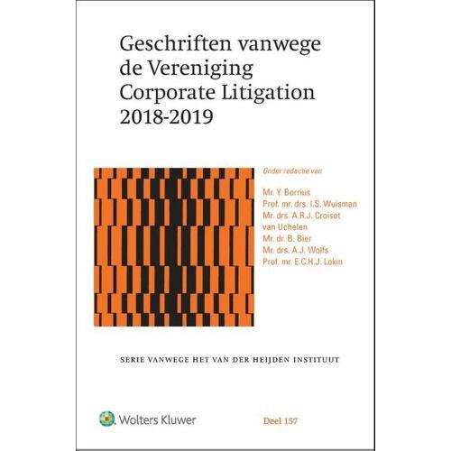 Geschriften vanwege de Vereniging Corporate Litigation 2018-2019 - Y. Borrius (ISBN: 9789013153019)