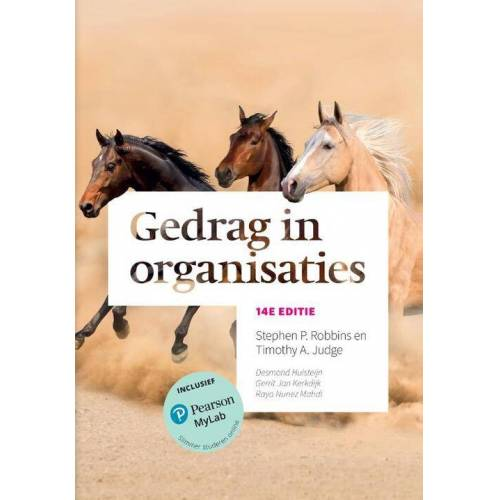 Gedrag in organisaties - Stephen P. Robbins, Timothy A. Judge (ISBN: 9789043037204)