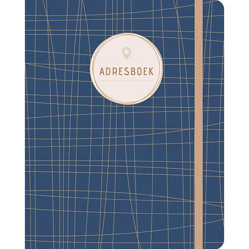 Adresboek (groot) - Dark Blue - (ISBN: 9789044753462)