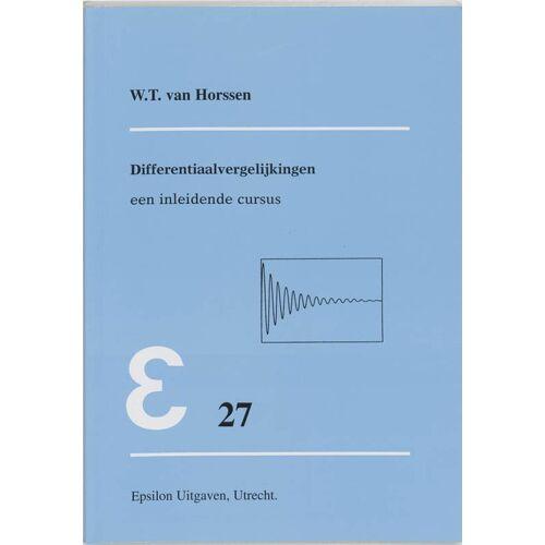 Differentiaalvergelijkingen - W.T. van Horssen (ISBN: 9789050410328)