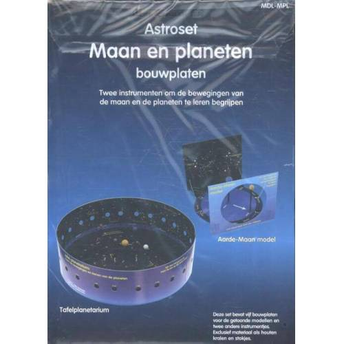 Astroset maan en planeten bouwplaten - Rob Walrecht (ISBN: 9789077052464)