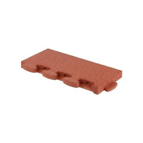 """Gum-Tech Randstuk """"recht"""", 55x25 cm, Rood, 6 cm"""