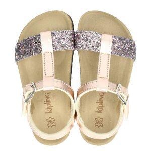 Kipling Rio sandalen rose goud