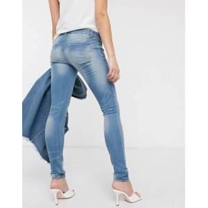 "Mama.licious Mamalicious - Smalle jeans-Grijs  - female - Grijs - Grootte: 33"" Long"