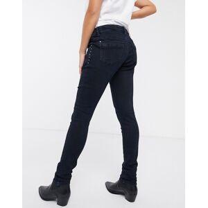 "Mama.licious Mamalicious - Smalle jeans met buikband-Marineblauw  - female - Marineblauw - Grootte: 31"" Reg"